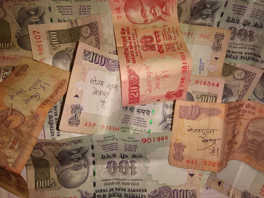 Rupias viajar a la India