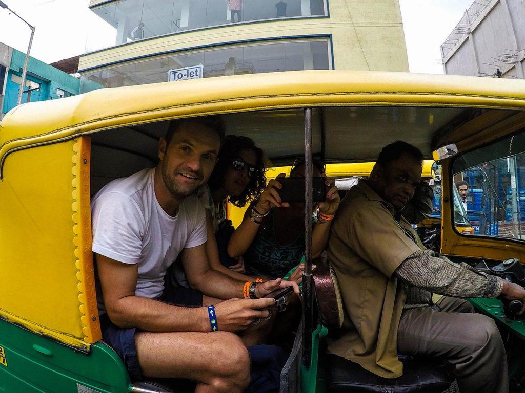 Rickshaw en la India